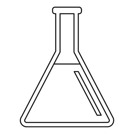 Test tube icon. Outline illustration of test tube vector icon for webicon. Outline illustration of vector icon for web Ilustração Vetorial