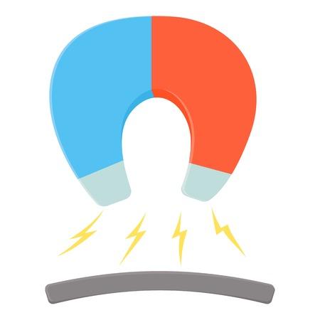 Horseshoe magnet icon. Cartoon illustration of horseshoe magnet vector icon for web Illustration
