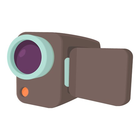 camcorder: Camcorder icon. Cartoon illustration of camcorder vector icon for web