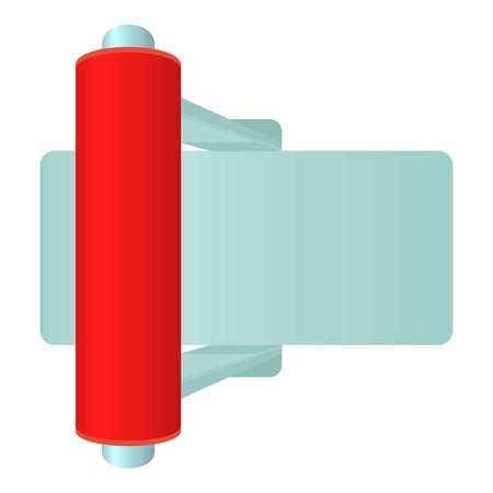 toggle switch: Red toggle switch icon. Cartoon illustration of red toggle switch vector icon for web