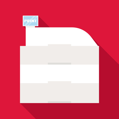 Printing icon. Flat illustration of printing vector icon for web isolated on baby blue background Illustration