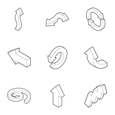 index: Index icons set. Outline illustration of 9 index vector icons for web Illustration
