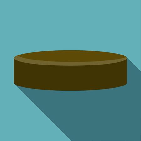 puck: Hockey puck icon. Flat illustration of hockey puck vector icon for web design Illustration