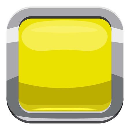 Citron square button icon. Cartoon illustration of square button vector icon for web design Illustration