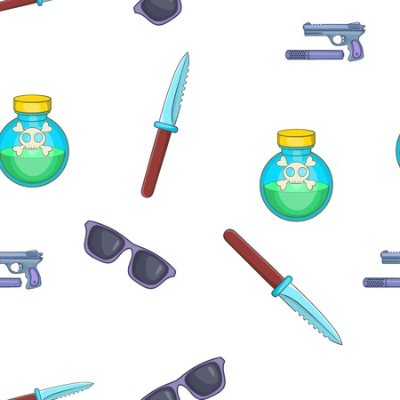 hearing protection: Spy tools pattern. Cartoon illustration of spy tools vector pattern for web