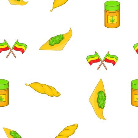 dispensary: Cannabis pattern. Cartoon illustration of cannabis vector pattern for web