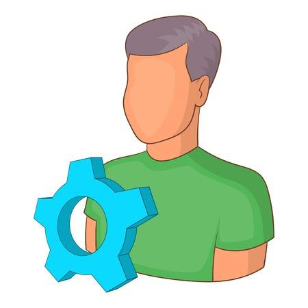 industrialist: Engineering vacancy icon. Cartoon illustration of engineering vacancy vector icon for web