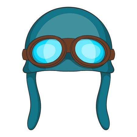 Aviation helmet icon. Cartoon illustration of aviation helmet vector icon for web Illustration
