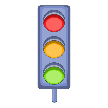 trafficlight: Traffic light icon. Cartoon illustration of traffic light vector icon for web