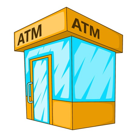 creditcard: ATM icon. Cartoon illustration of ATM vector icon for web
