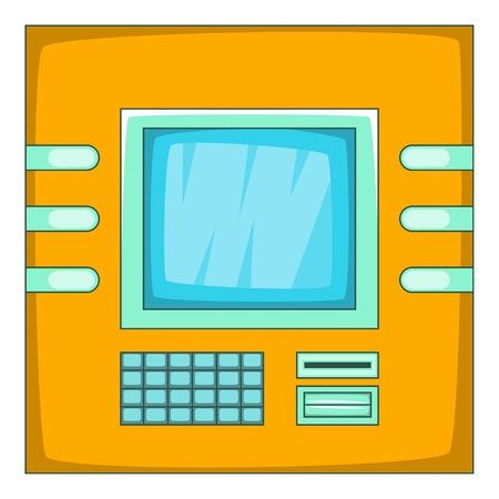 cash machine: Cash machine icon. Cartoon illustration of cash machine vector icon for web