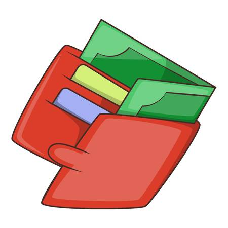 money wallet: Money wallet icon. Cartoon illustration of money wallet vector icon for web