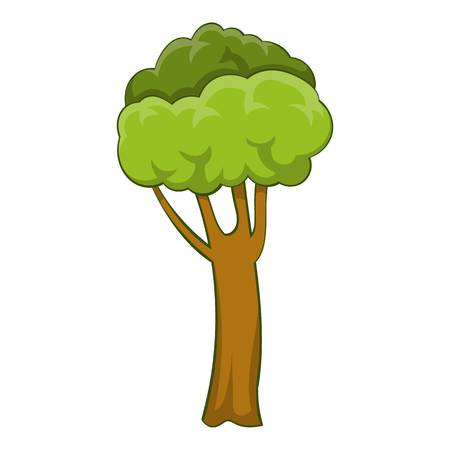 High tree icon. Cartoon illustration of high tree vector icon for web