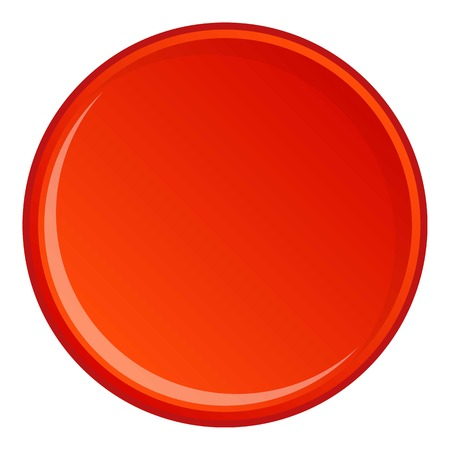Round button icon. Cartoon illustration of round button vector icon for web Illustration