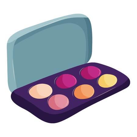 eyeshadow: Eyeshadow icon. Cartoon illustration of eyeshadow vector icon for web