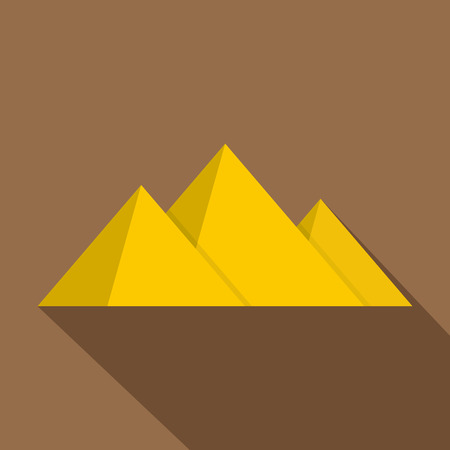 Pyramide icon. Flat illustration of pyramid vector icon for web
