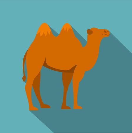 hardy: Camel icon. Flat illustration of camel vector icon for web Illustration