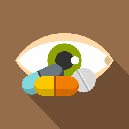 oculist: Eye icon. Flat illustration of eye vector icon for web Illustration