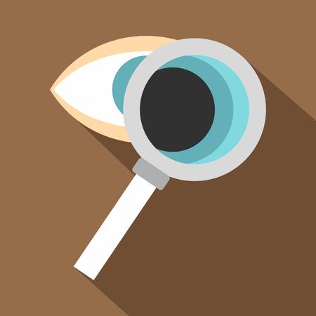 optician: Eye diagnostic icon. Flat illustration of eye diagnostic vector icon for web