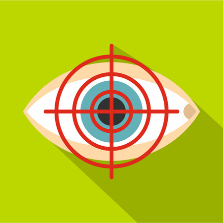 Optician icon. Flat illustration of optician vector icon for web