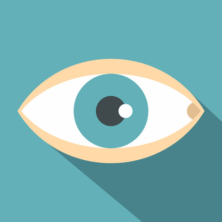oculist: Healthy eye icon. Flat illustration of healthy eye vector icon for web Illustration