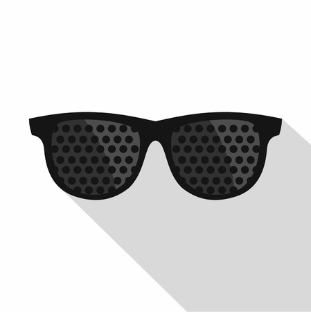 bifocals: Bifocals icon. Flat illustration of bifocals vector icon for web Illustration