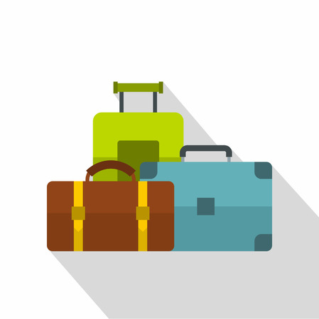 baggage: Baggage icon. Flat illustration of baggage vector icon for web Illustration