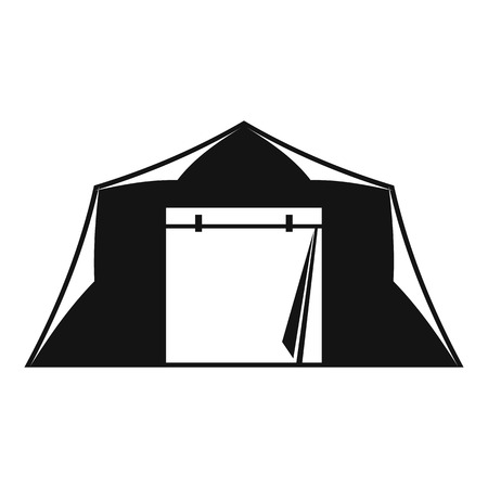 weekend activities: Tent icon. Simple illustration of tent vector icon for web