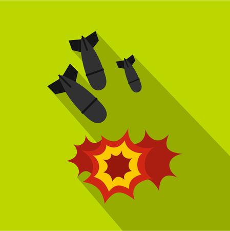 Bomb icon. Flat illustration of bomb vector icon for web Illustration