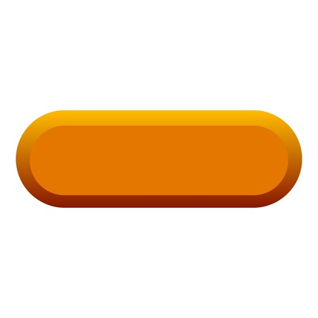 Orange button icon. Flat illustration of orange button vector icon for web Illustration