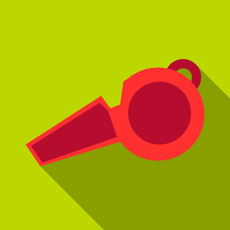 Whistle icon. Flat illustration of whistle vector icon for web design