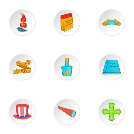 mainland: Search of mainland icons set. Cartoon illustration of 9 search of mainland vector icons for web Illustration