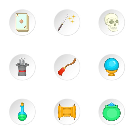 witchery: Witchery icons set. Cartoon illustration of 9 witchery vector icons for web
