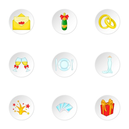 exclusive photo: Marriage icons set. Cartoon illustration of 9 marriage vector icons for web Illustration