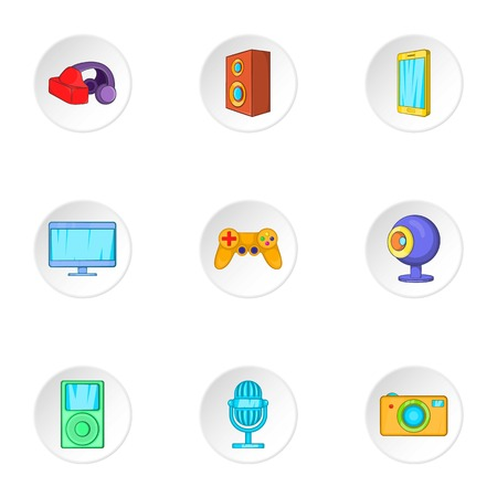 electronic devices: Electronic devices icons set. Cartoon illustration of 9 electronic devices vector icons for web Illustration