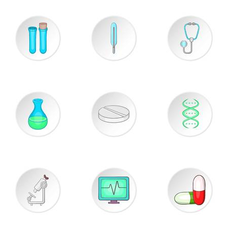 doctoral: Doctoral icons set. Cartoon illustration of 9 doctoral vector icons for web