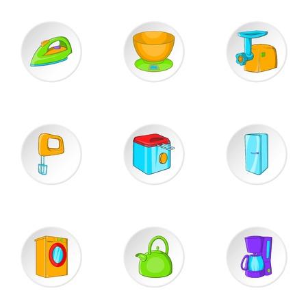 appliances: Appliances icons set. Cartoon illustration of 9 appliances vector icons for web