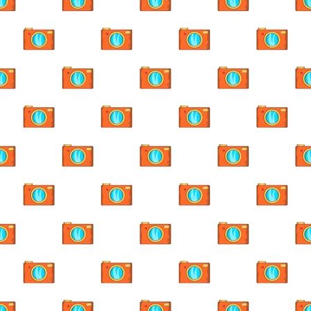 Retro camera pattern. Cartoon illustration of retro camera vector pattern for web