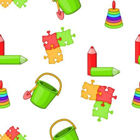 leccion: Childrens patrón de juguetes. Ilustración de dibujos animados de patrón de juguetes para niños de vectores para la web Vectores