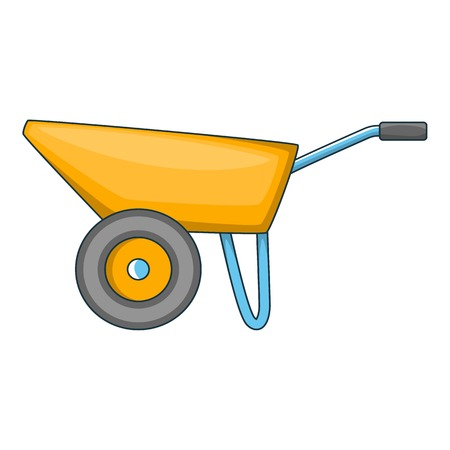 Wheelbarrow icon. Cartoon illustration of wheelbarrow vector icon for web design Illustration
