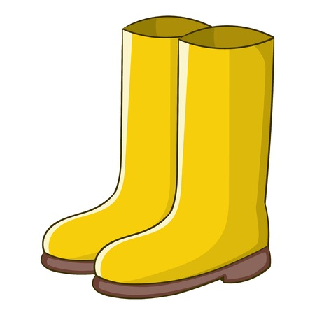 Rubber boots icon. Cartoon illustration of rubber boots vector icon for web design Illustration