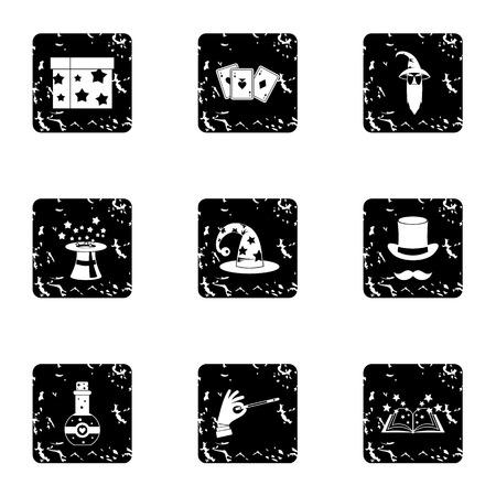 witchery: Witchery icons set. Grunge illustration of 9 witchery vector icons for web Illustration