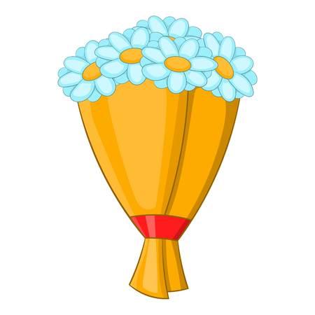 Bouquet of flowers icon. Cartoon illustration of bouquet of flowers vector icon for web design