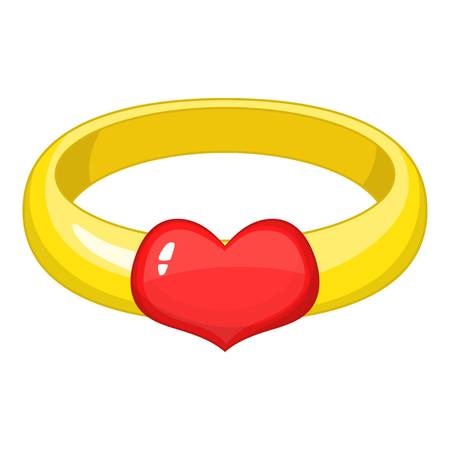 Engagement ring icon. Cartoon illustration of engagement ring vector icon for web design