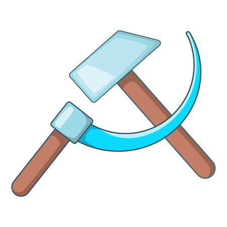 Hammer and sickle icon. Cartoon illustration of hammer and sickle vector icon for web design