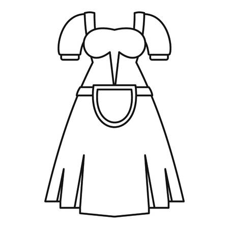 lederhosen: Germany dress icon. Outline illustration of germany dress vector icon for web