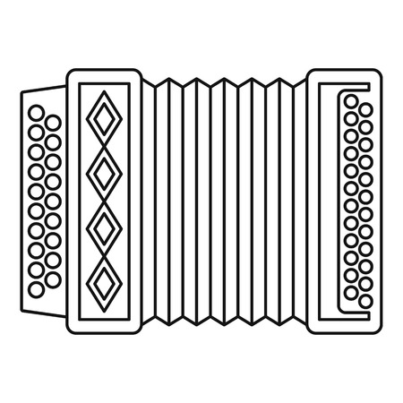 harmonic: Accordion icon. Outline illustration of accordion vector icon for web