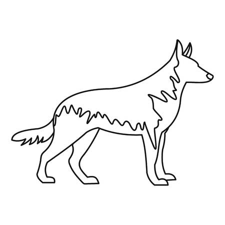 German wolfhound icon. Outline illustration of german wolfhound vector icon for web