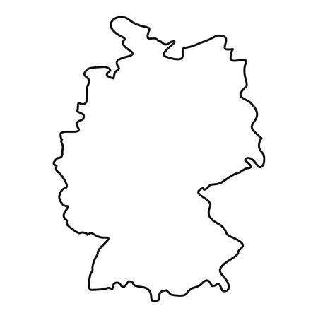 deutschland karte: Deutschland-Karte Symbol. Prinzipdarstellung von Symbol Deutschland Karte Vektor für Web