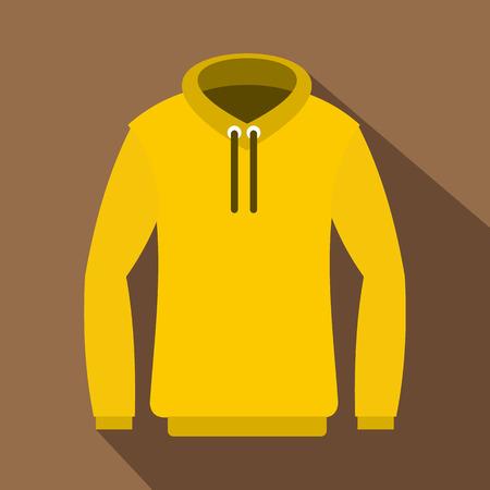 zipper hooded sweatshirt: Hoody icon. Flat illustration of hoody vector icon for web